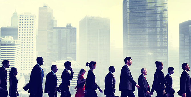 Business People Commuter Walking City Concept